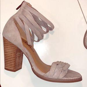 Gray suede lucky brand heels